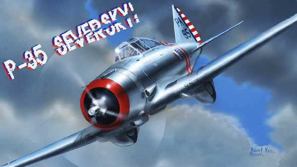 illustration for the Seversky P-35 paper model