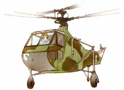 SIkorsky R-4 in Camo