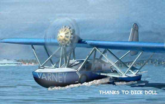 picture of a Sikorsky S-39 Amphibious Flying Boat paper model