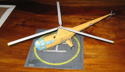 Paper model of Sikorsky S-51 with Canadian markings