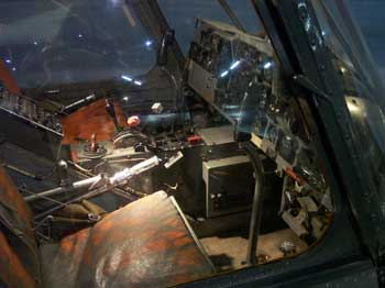 Cockpit of the Sikorsky S-55