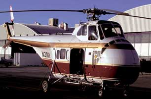 Parked Sikorsky S55.