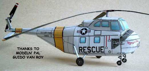 paper model of the Sikorsky S-55