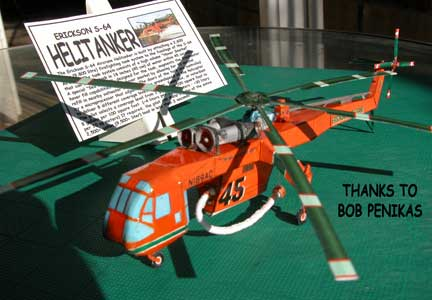 paper cardmodel of Sikorsky skycrane