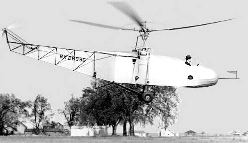 Igor Sikorsky testing the VS300