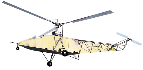 picture for the FG paper model of the Vought-Sikorsky VS-300