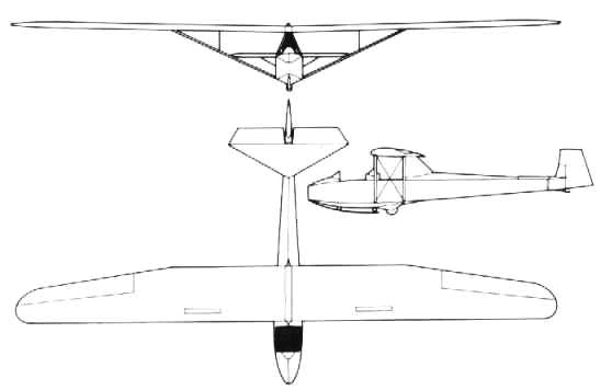 3 View of the Slingsby T-31 Tandem Tutor