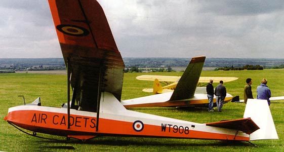 Slingsby Tutor at Glider meet
