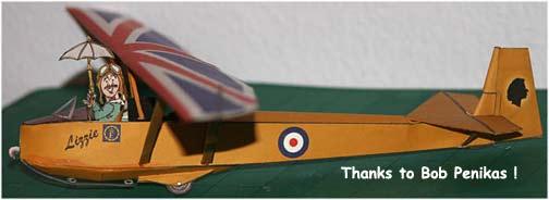 Slingsby Tutor paper model