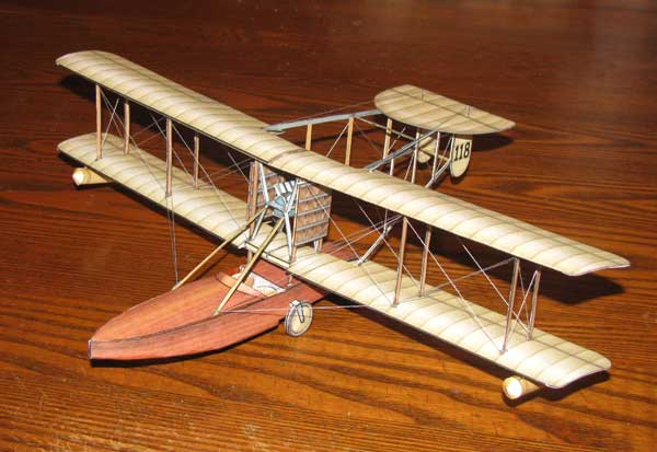 Bat-Boat airplane paper model