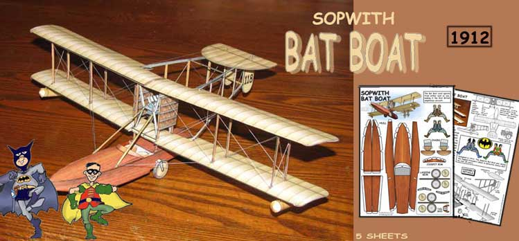 Sopwith Bat Boat paper model photo