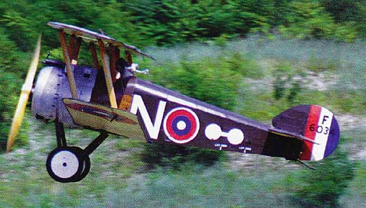Cole Palen in his Sopwith Camel