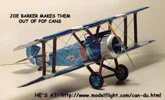 Joe's Sopwith Camel in Cans