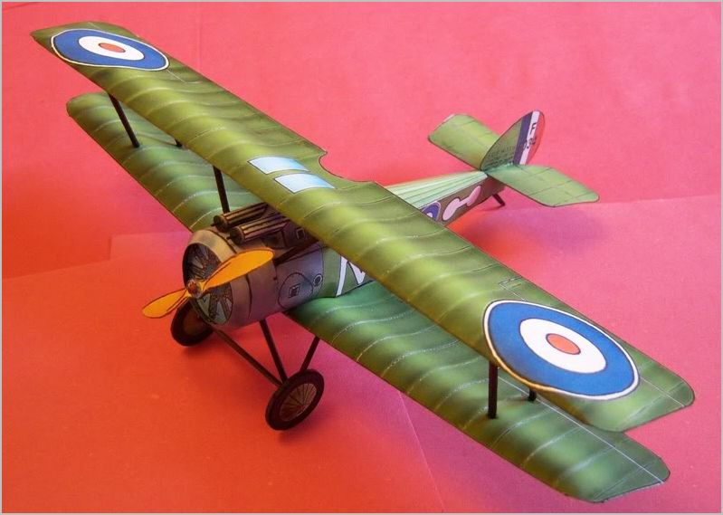 Sopwith Camel WWI Scout paper model kit