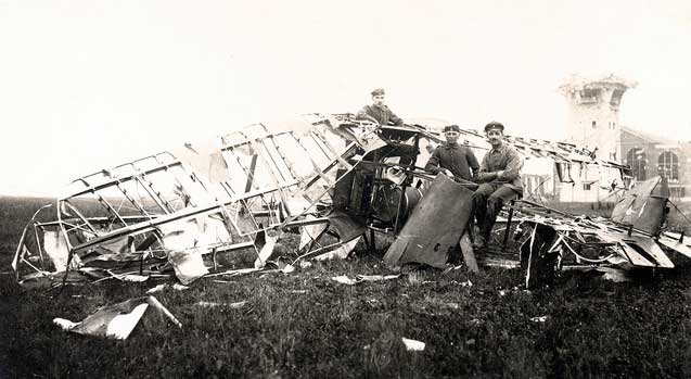 Sopwith Dolphin crash in France 1918