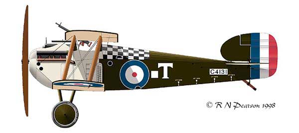 Sopwith Dolphin profile view
