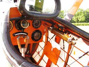 Cockpit of the Sopwith Pup