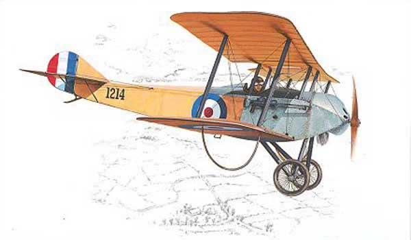 Sopwith Tabloid paper model illustration