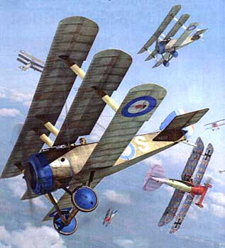 Sopwith Tripe paper model illustration