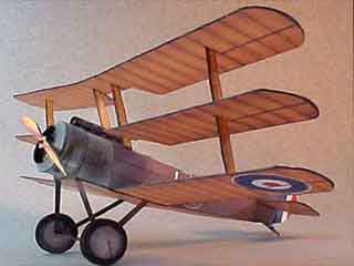 Sopwith Triplane  paper model airplane