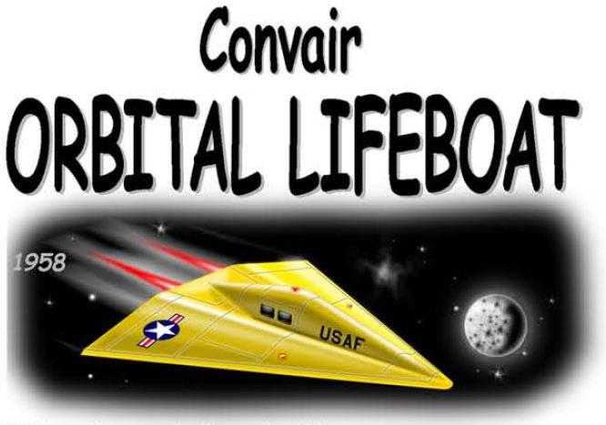 Space Lifeboat paper model illustration