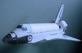 Columbia Space Shuttle model