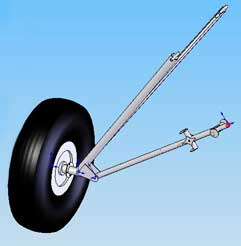 Stolp Starduster one Landing Gear assembly drawing