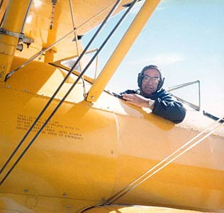 Dick Doll in Stearman