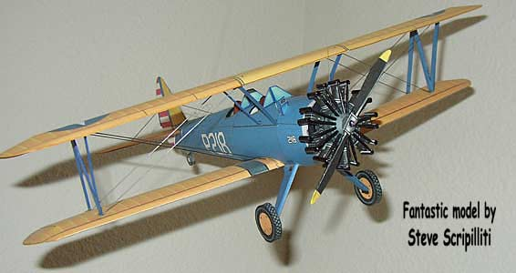 Boeing Stearman PT-17 paper model
