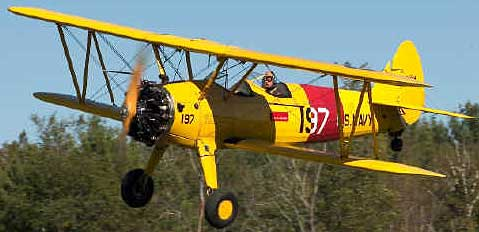 Boeing-Stearman PT-17 Kaydet in flight