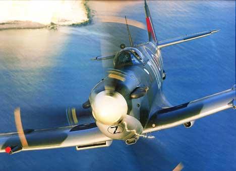 spitfire aircraft. spitfire closeup in flight spitfire aircraft c