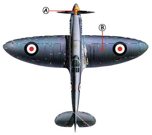 Supermarine Spitfire Callout Top
