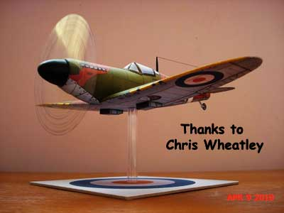 Spitfire Model Submitted by Chris Wheatley