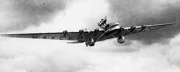 Tupolev Ant-20 Russian Giant Bomber in flight