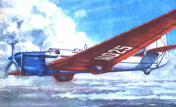Painting of the Tupolev ANT-25