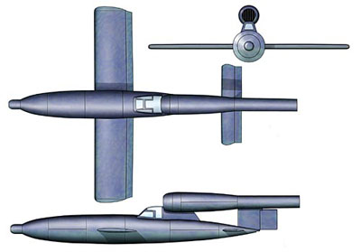 3 View of the Fieseler Fi 103R
