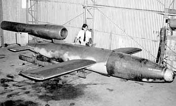 Captured V-1 Buzz Bomb