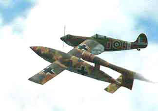 FG models-V-1 and Spitfire