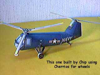 HUP-2 Vertol Retriever Helicopter paper model