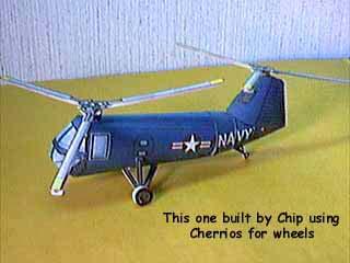 HUP-2 Vertol Retriever Helicopter paper model