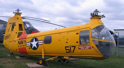 Vertol HUP Helicopter Yellow