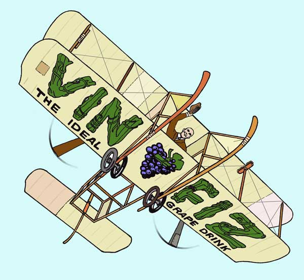"Wright Model B ""Vin Fiz"" artwork by Derek Roberts"