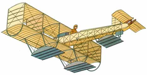 illustration for the Voisin 1911 Canard Freres Hydro Seaplane paper model