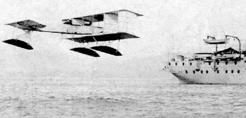 Voisin Amphibian flying