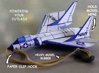 Paper model of the Vought F7U Cutlass Carrier Fighter Jet