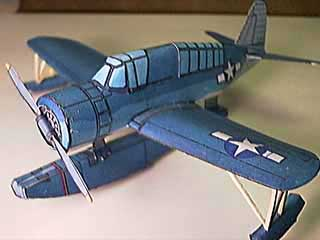 Vought OS2U WWII Kingfisher paper model