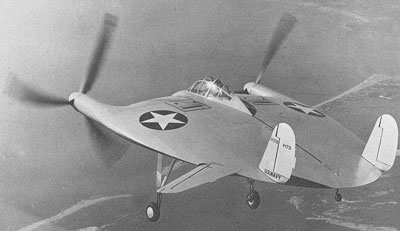 Vought V-173 Flying Flapjack In Flight