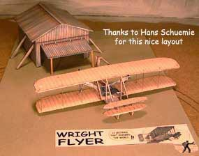 Wright Brother Flyer diorama
