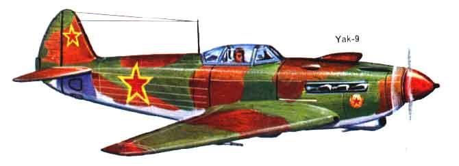 Full color drawing of the Yak 9