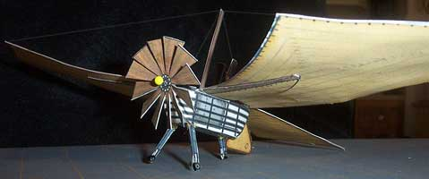 Felix Du Temple Early Flying Machine Model